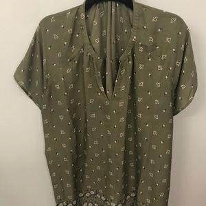 Old navy tunic top olive green sz xxl